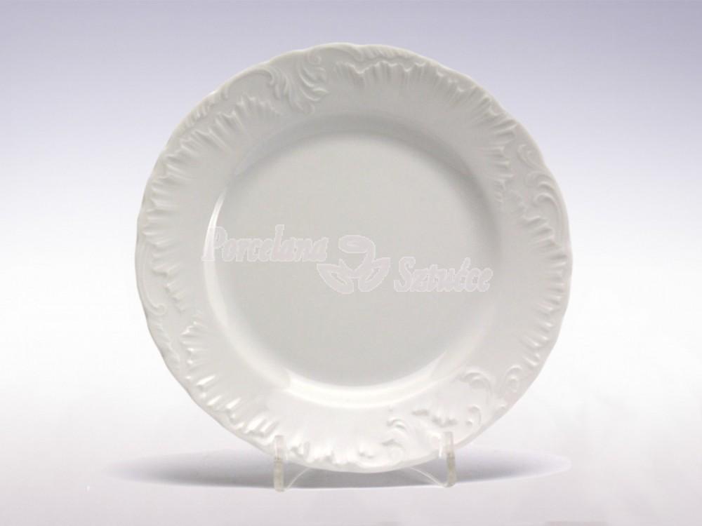 Półmisek okrągły 29 Ćmielów Rococo Biały 0001