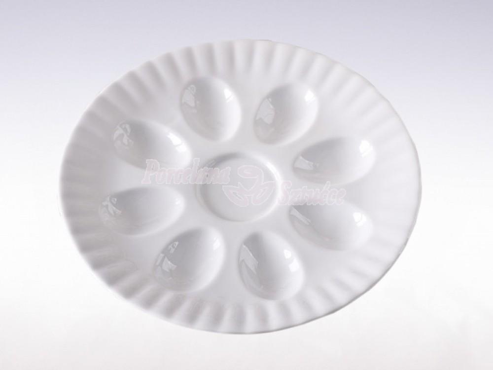Półmisek okrągły do jaj 21 Chodzież Iwona Biały C000