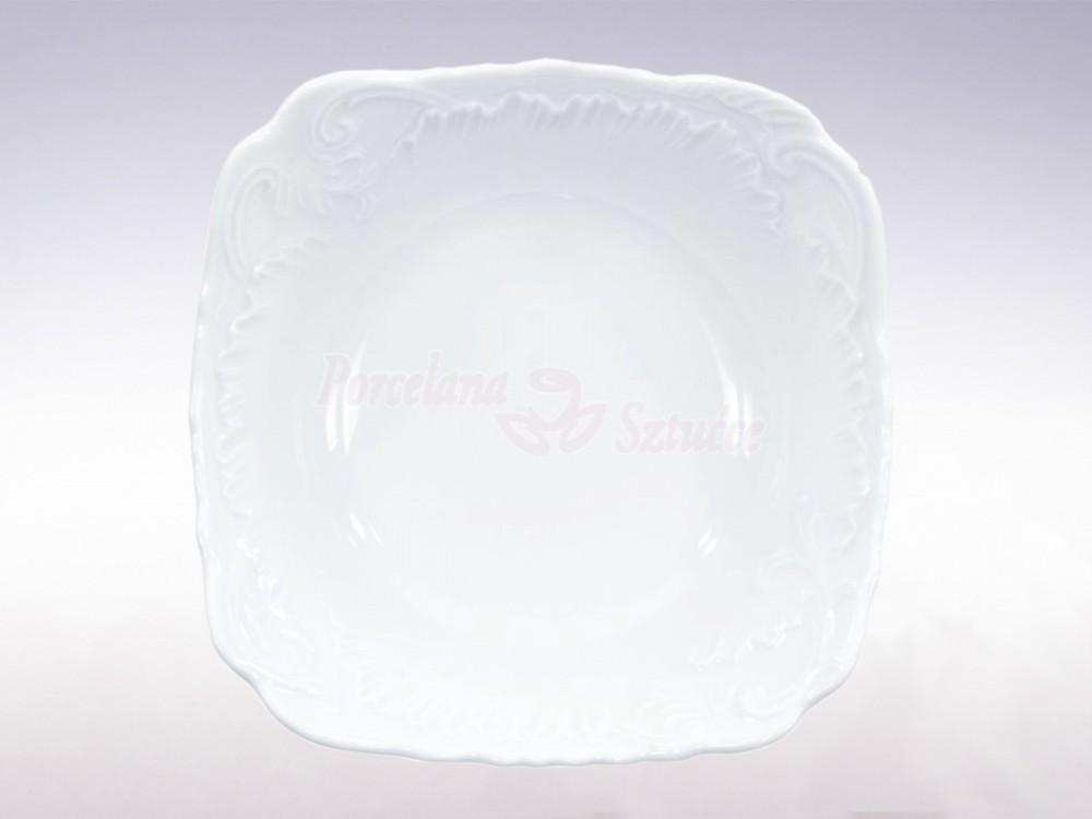 Salaterka kwadratowa 14 Ćmielów Rococo Biały 0001