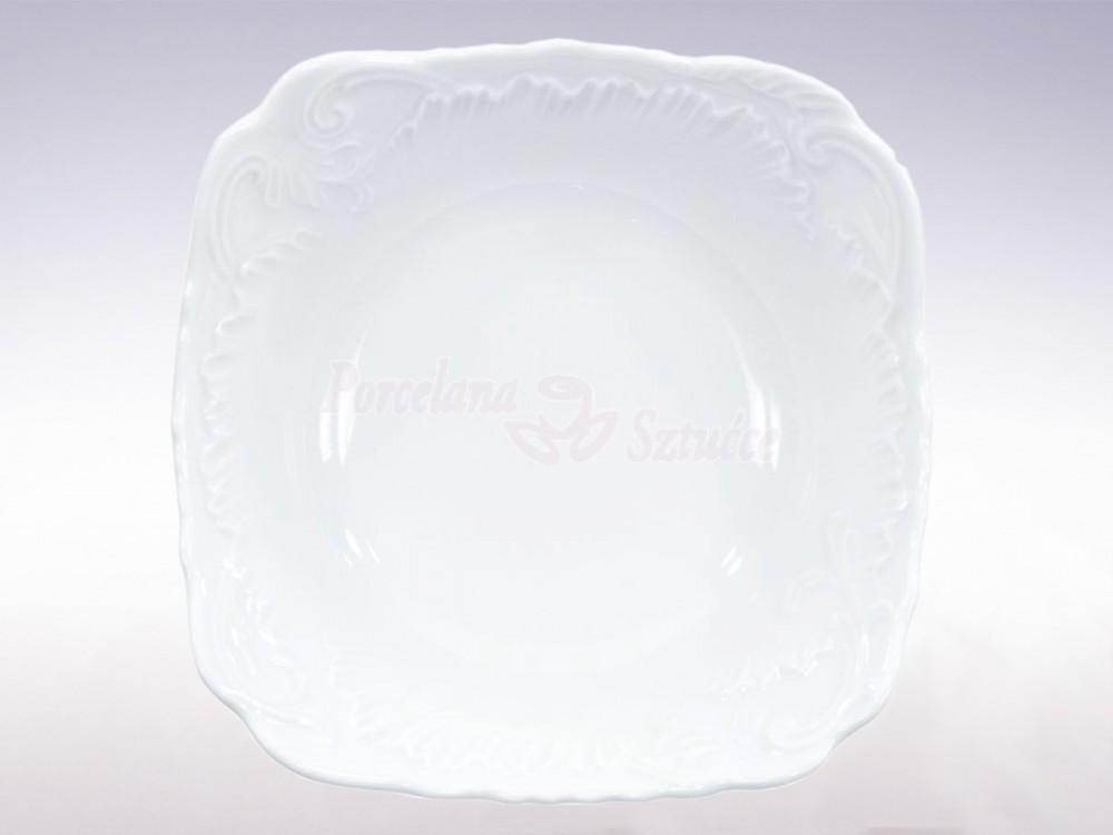 Salaterka kwadratowa 17 Ćmielów Rococo Biały 0001 Wzór