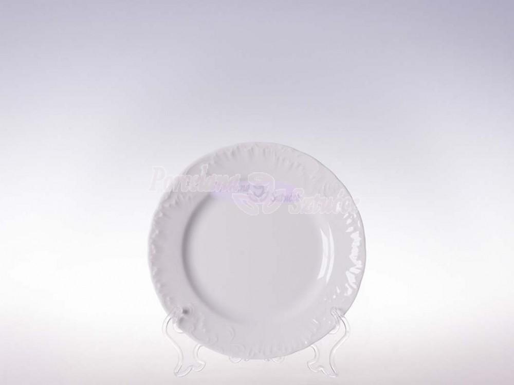 Talerz płytki 17 Ćmielów Rococo Biały 0001 Wzór