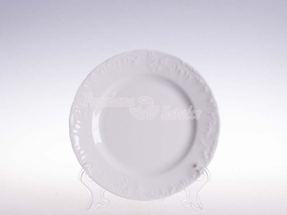 Talerz płytki 19 Ćmielów Rococo Biały 0001 Wzór