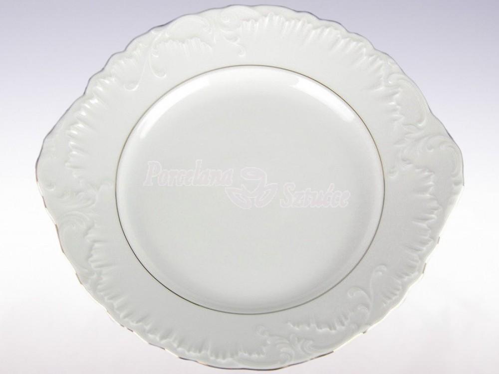 Talerz do ciasta 29 Ćmielów Rococo Złoty Pasek 3604