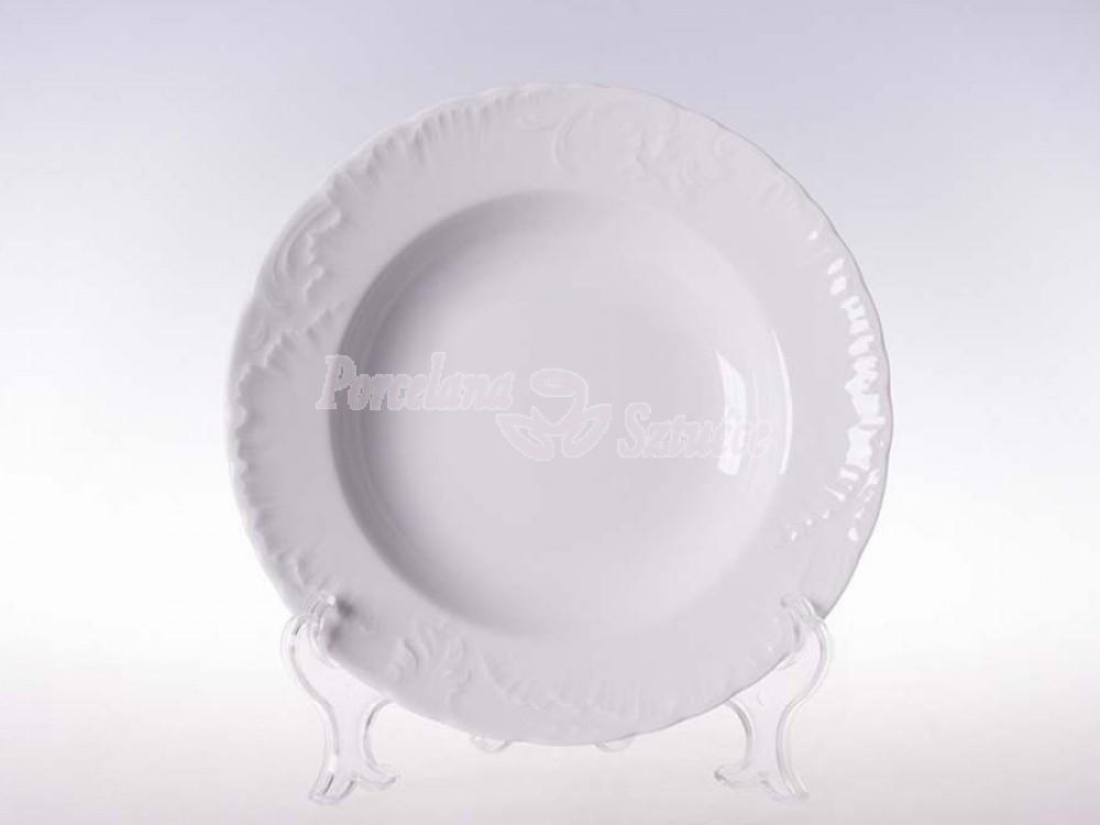 Talerz głęboki 22,5 Ćmielów Rococo Biały 0001 Wzór