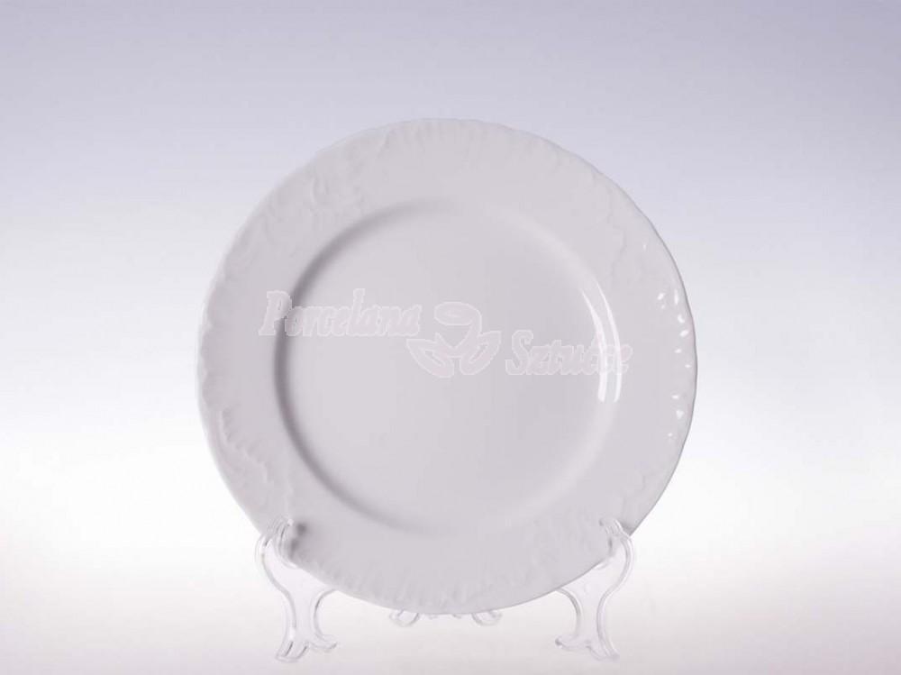 Talerz płytki 21 Ćmielów Rococo Biały 0001