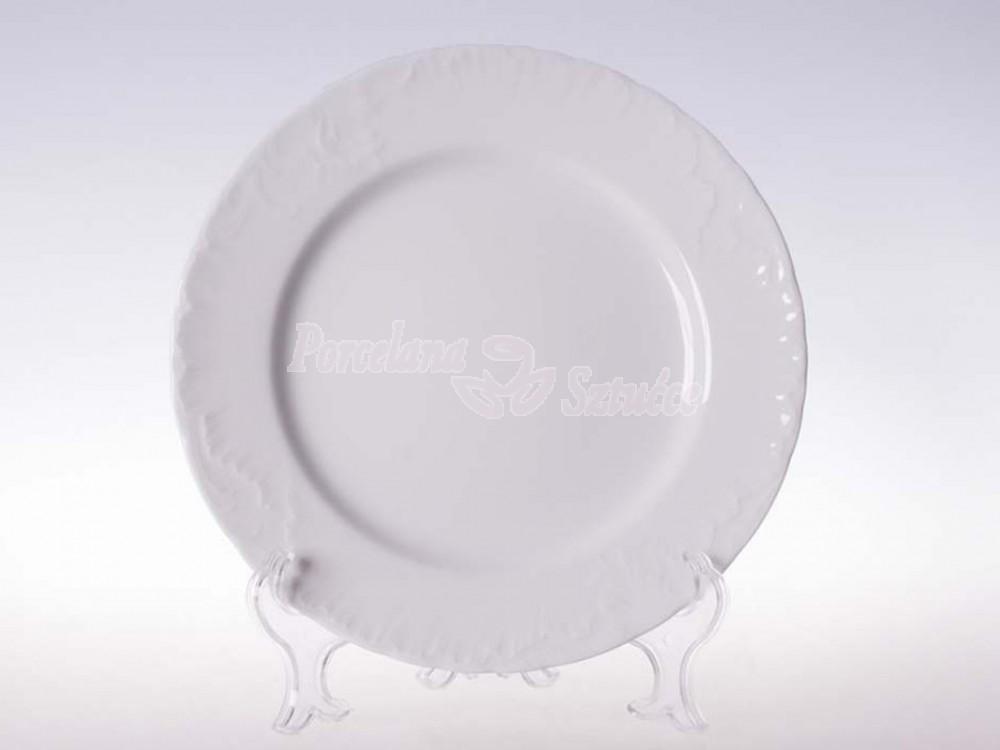Talerz płytki 25 Ćmielów Rococo Biały 0001 Wzór