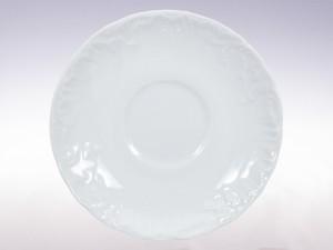 Spodek 15,7 Ćmielów Rococo Biały 0001 Wzór