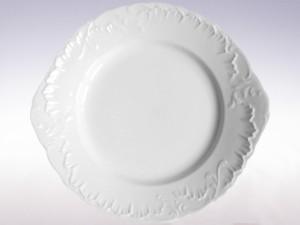 Talerz do ciasta 29 Ćmielów Rococo Biały 0001 Wzór