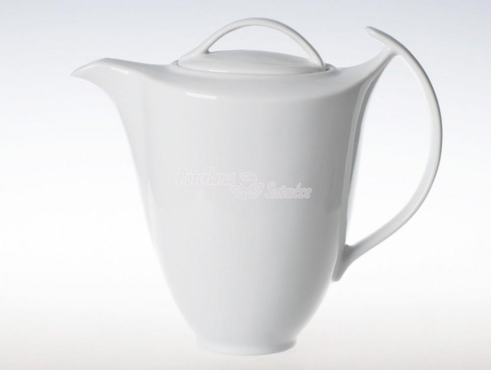 Kwadratowy Serwis do Kawy 12 osób 27 el. 250 Ćmielów Akcent Biały C000