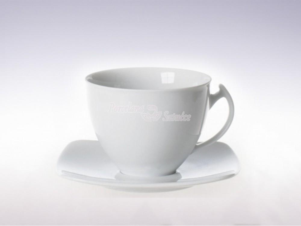 Kwadratowy Serwis do Kawy 6 osób 12 el. Ćmielów Akcent Biały C000