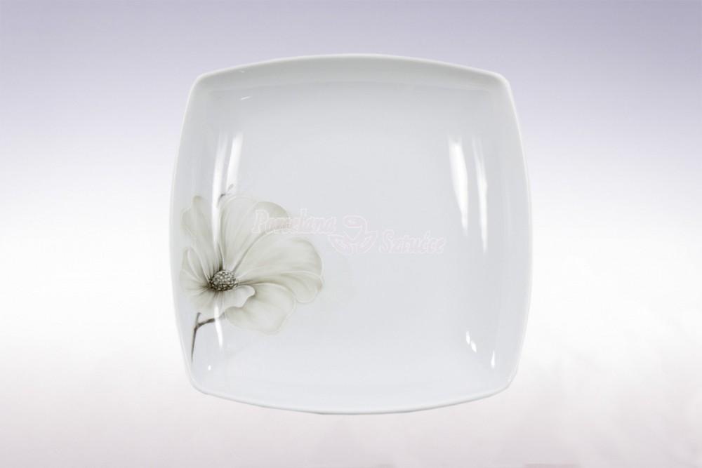 Kwadratowy talerz głeboki do zupy Ćmielów Akcent Magnolia G463