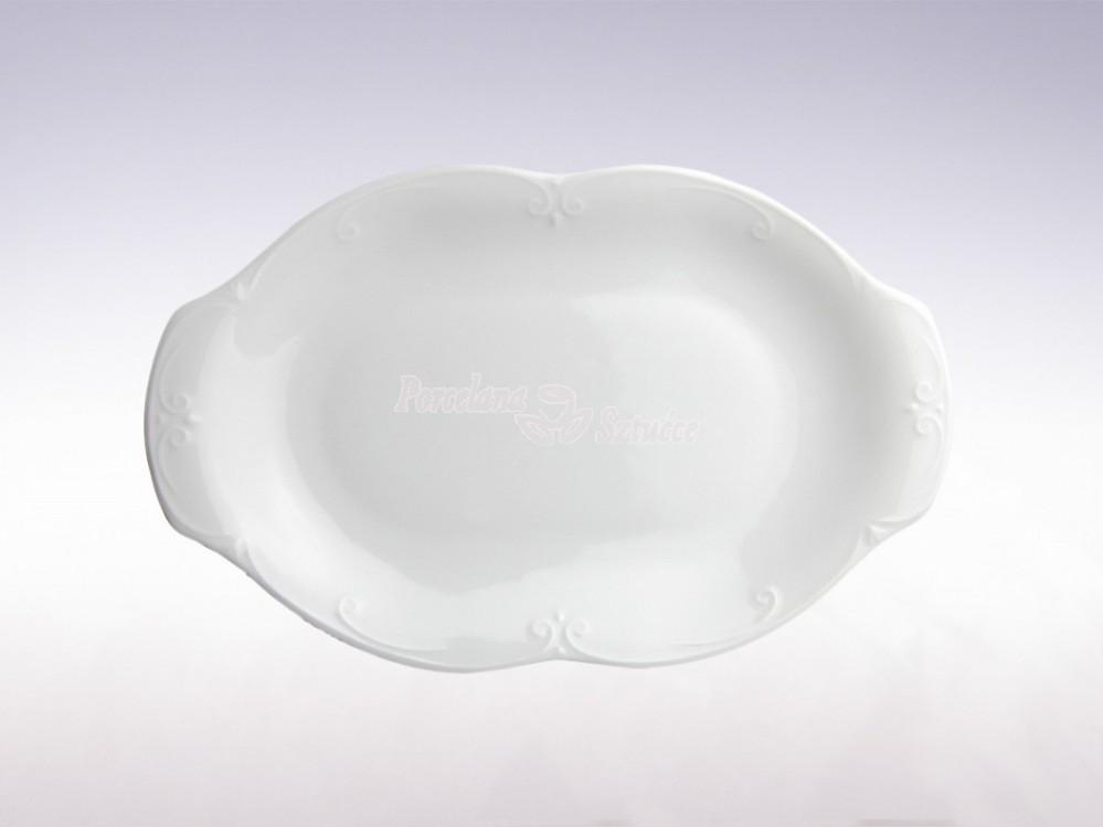 Półmisek owalny 24 Chodzież Kamelia Biały C000