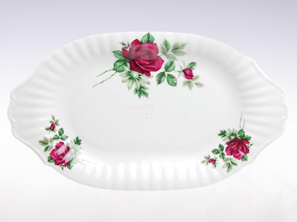 Półmisek owalny 33 Chodzież Iwona Bordowa Róża B826