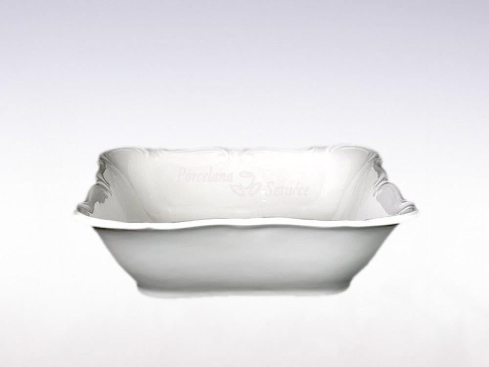 Salaterka kwadratowa 23 cm Chodzież Maria Teresa Biała C001