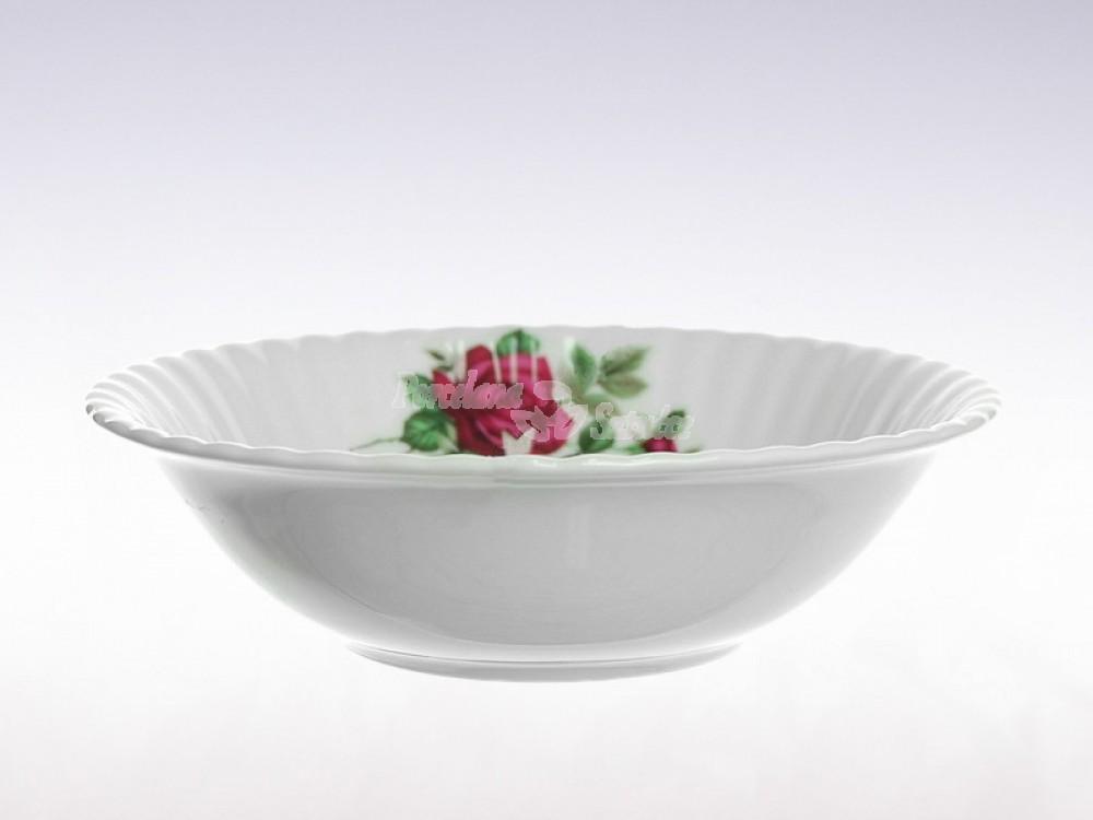 Salaterka okrągła 16 Chodzież Iwona Bordowa Róża B826