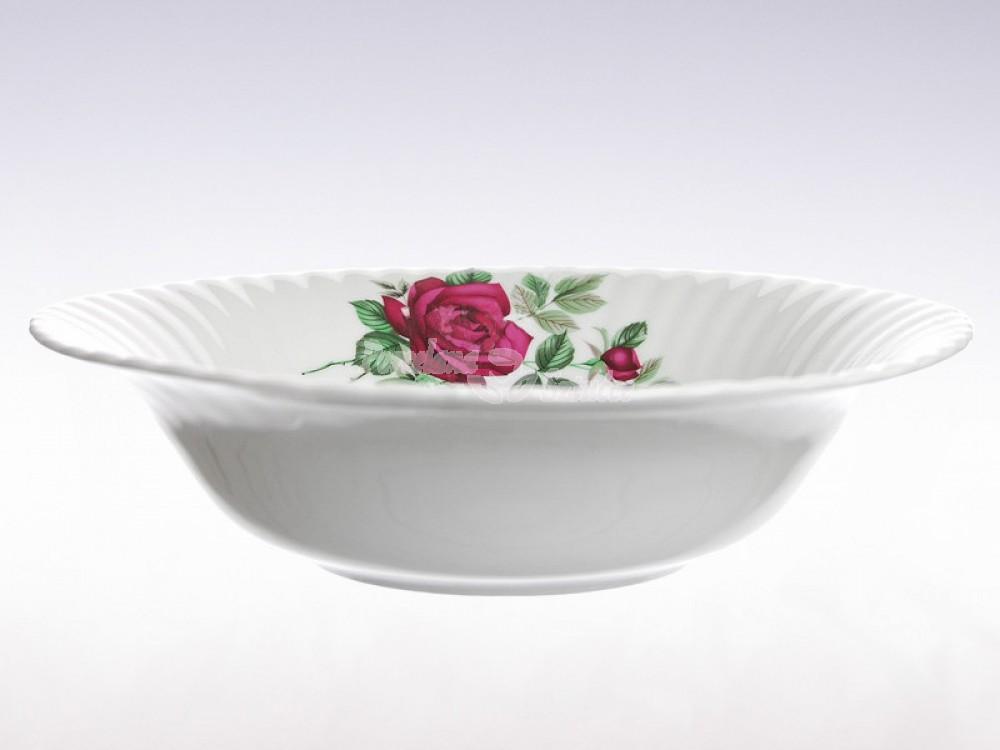 Salaterka okrągła 26 Chodzież Iwona Bordowa Róża B826