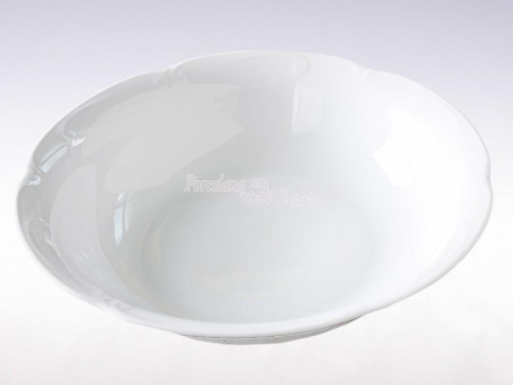 Salaterka okrągła 26 Chodzież Kamelia Biały C000