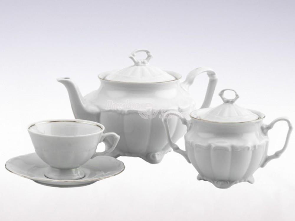 Serwis do herbaty 12 osób 39 el. Chodzież Maria Teresa Platynowa Linia G237
