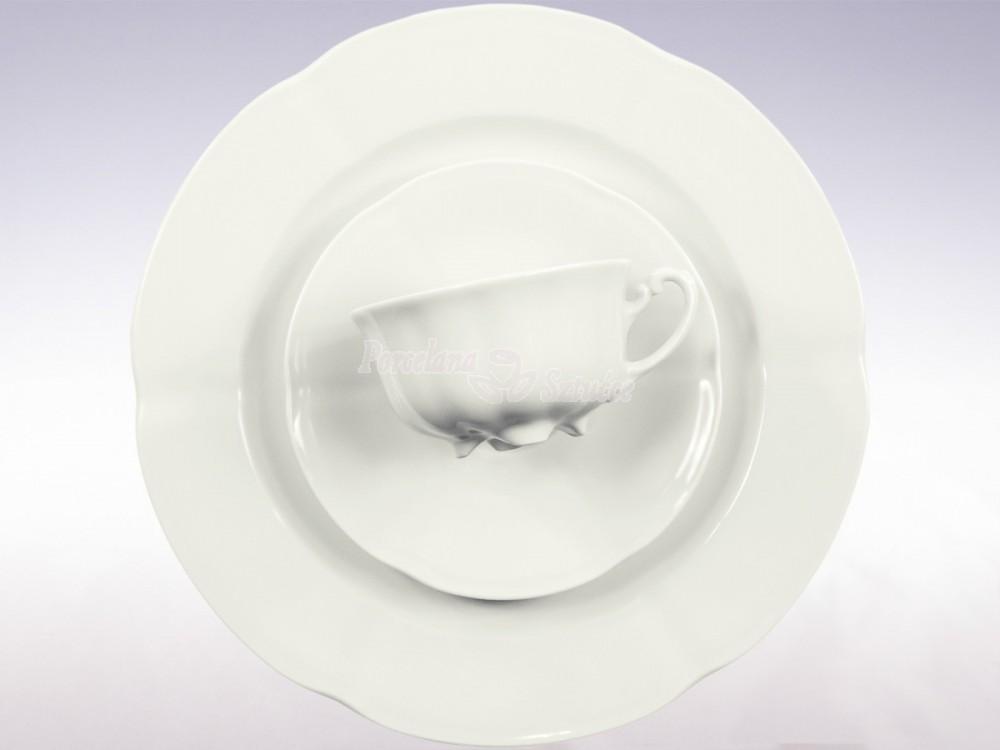 Serwis do herbaty 12 osób 39 el. 220 Ćmielów Bolero Biały 0001 Wzór