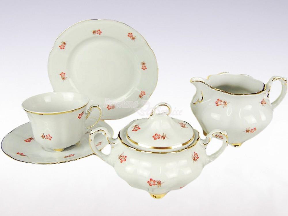 Serwis do herbaty 12 osób 39 el. 220 Ćmielów Bolero Józefina G296 Wzór