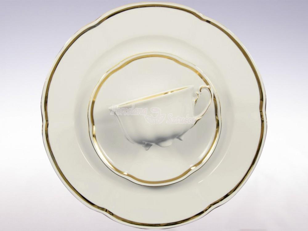 Serwis do herbaty 12 osób 39 el. 220 Ćmielów Bolero Pas Złota E337 Wzór