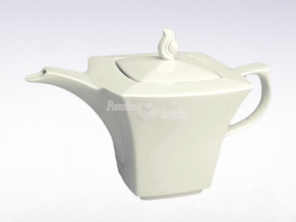 Serwis do herbaty 12 osób 39 el. Ćmielów Lwów Biały 0001
