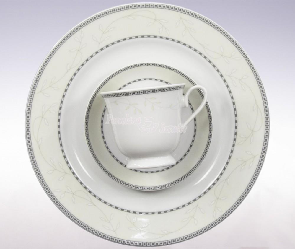 Serwis do herbaty 12 osób 40 el. Ćmielów Astra Marzenie K601 Wzór