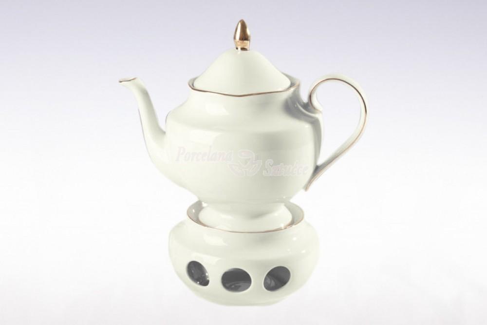 Serwis do herbaty 12 osób 40 el. Ćmielów Astra Złoty Pasek B014