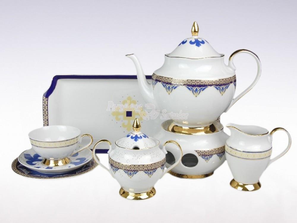Serwis do herbaty 12 osób 41 el. Ćmielów Astra Bizancjum G340