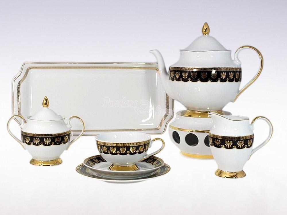 Serwis do herbaty 12 osób 41 el. Ćmielów Astra Ellada G339