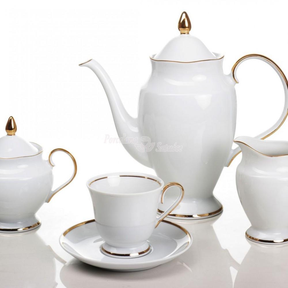 Serwis do herbaty 12 osób 41 el. Ćmielów Astra Złota Wstęga G067