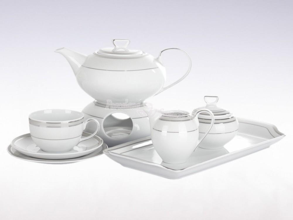 Serwis do herbaty 12 osób 41 elementów Ćmielów Yvonne Julia E685