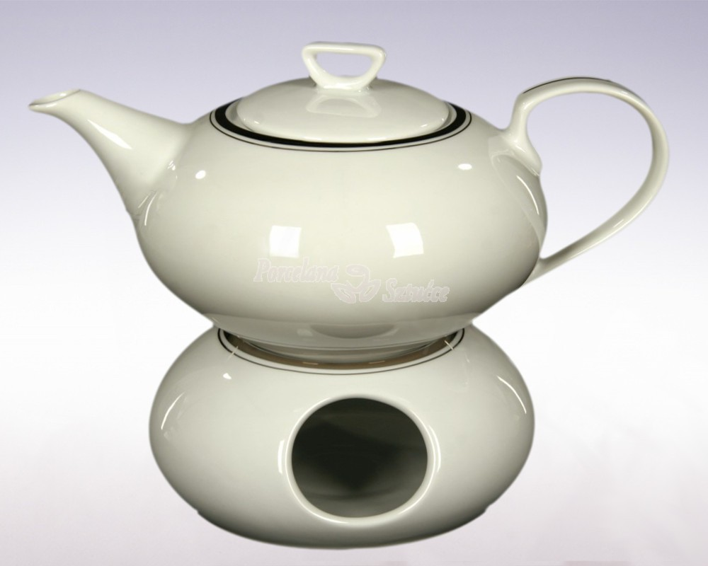 Serwis do herbaty 12 osób 41 el. Ćmielów Yvonne Platynowa Wstęga G238