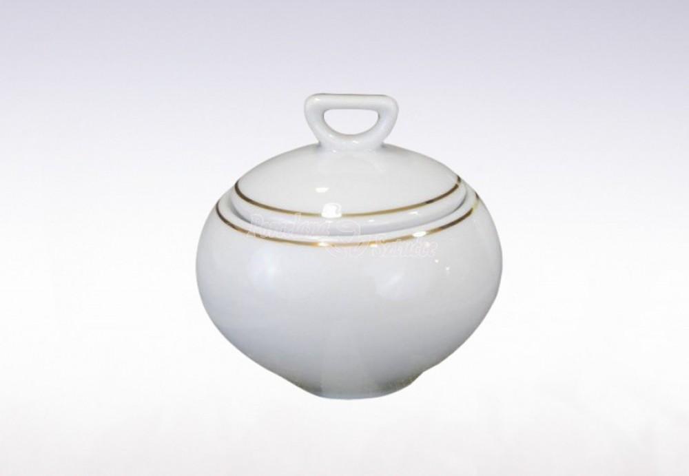 Serwis do herbaty 12 osób 41 el. Ćmielów Yvonne Złoty Pasek 3604
