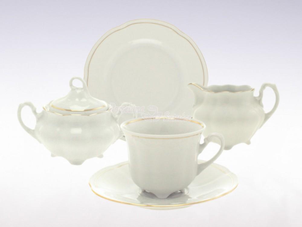 Serwis do herbaty 6 osób 20 el. 220 el. Ćmielów Bolero Złoty Pasek 3604