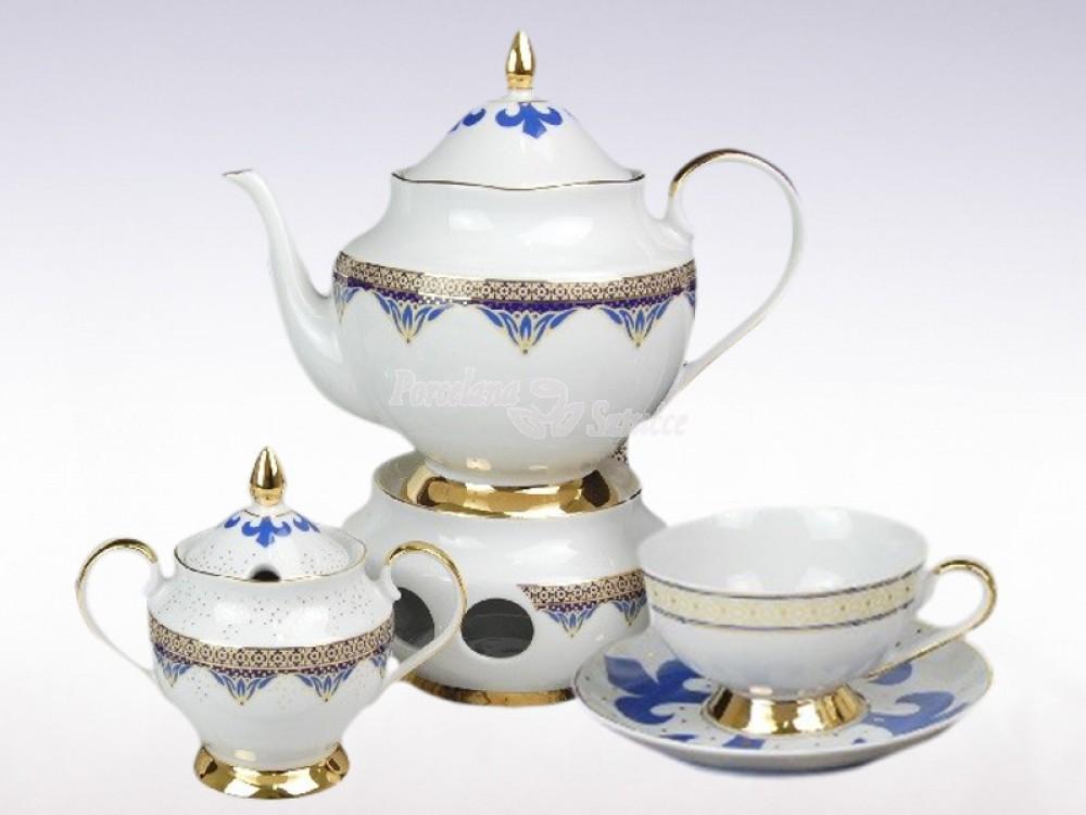 Serwis do herbaty 6 osób 21 el. Ćmielów Astra Bizancjum G340