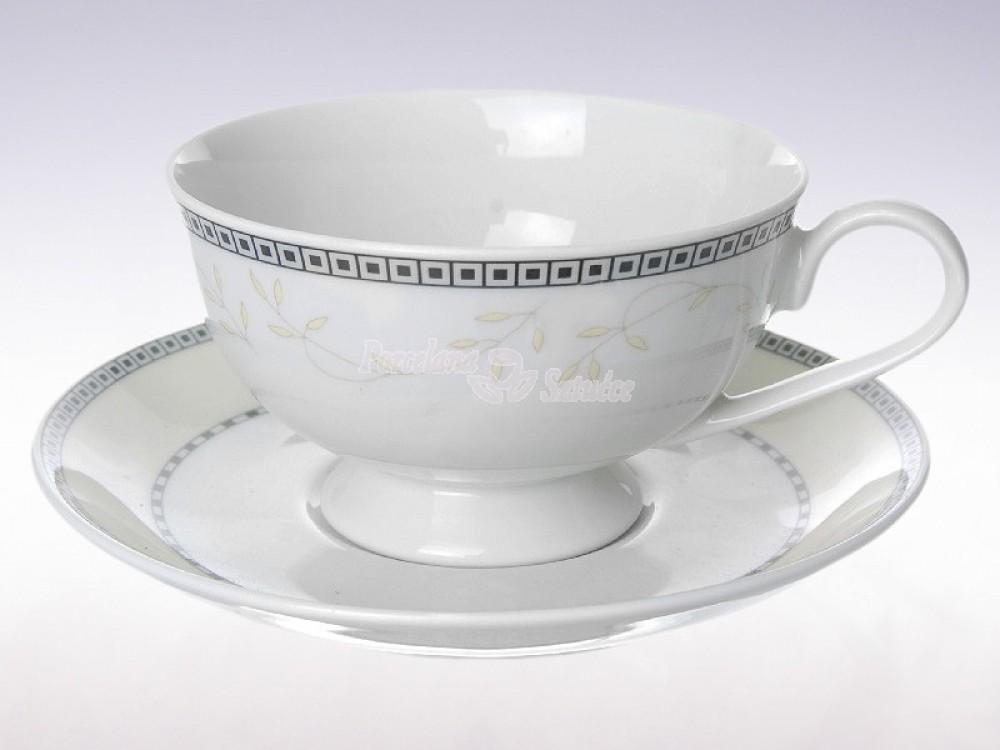 Serwis do herbaty 6 osób 21 el. Ćmielów Astra Marzenie K601