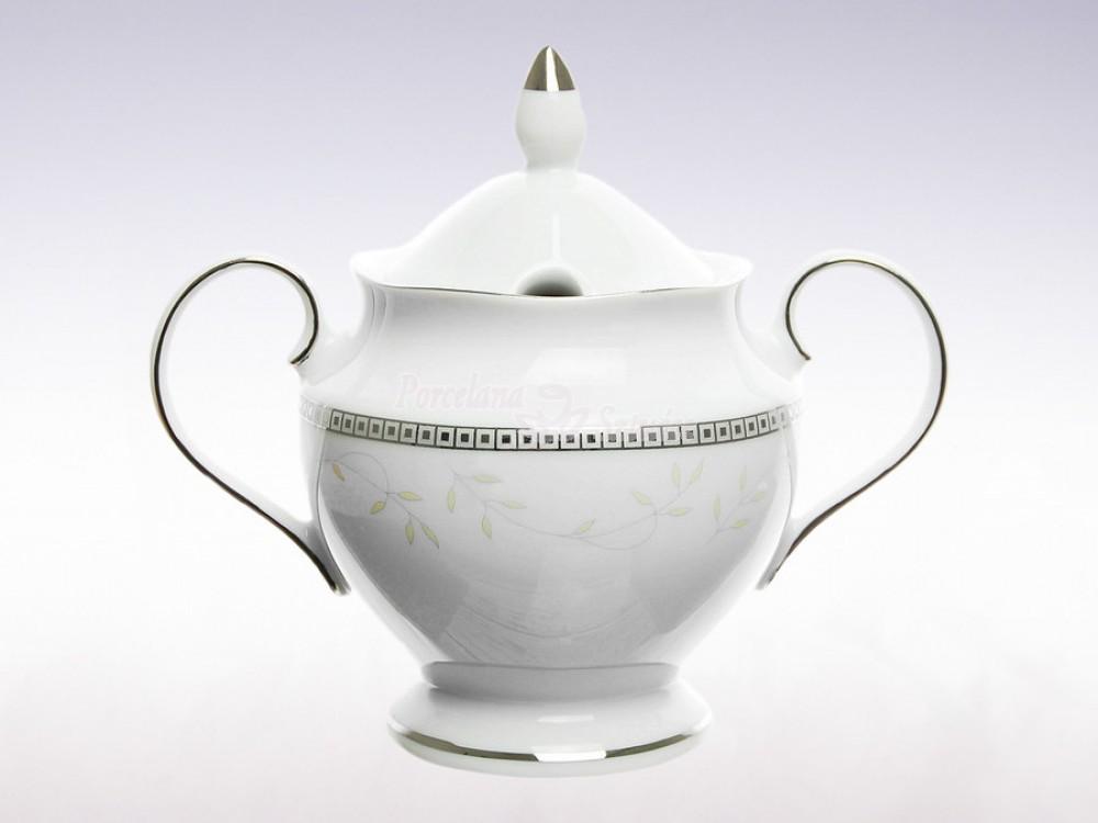 Serwis do herbaty 6 osób 21 el. Ćmielów Astra Marzenie Platynowe B601