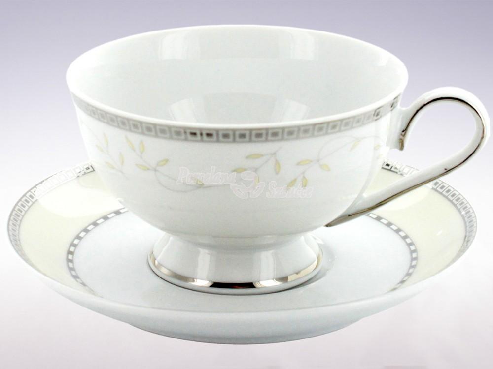 Serwis do herbaty 6 osób 21 el. Ćmielów Astra Marzenie Platynowe B601 Wzór