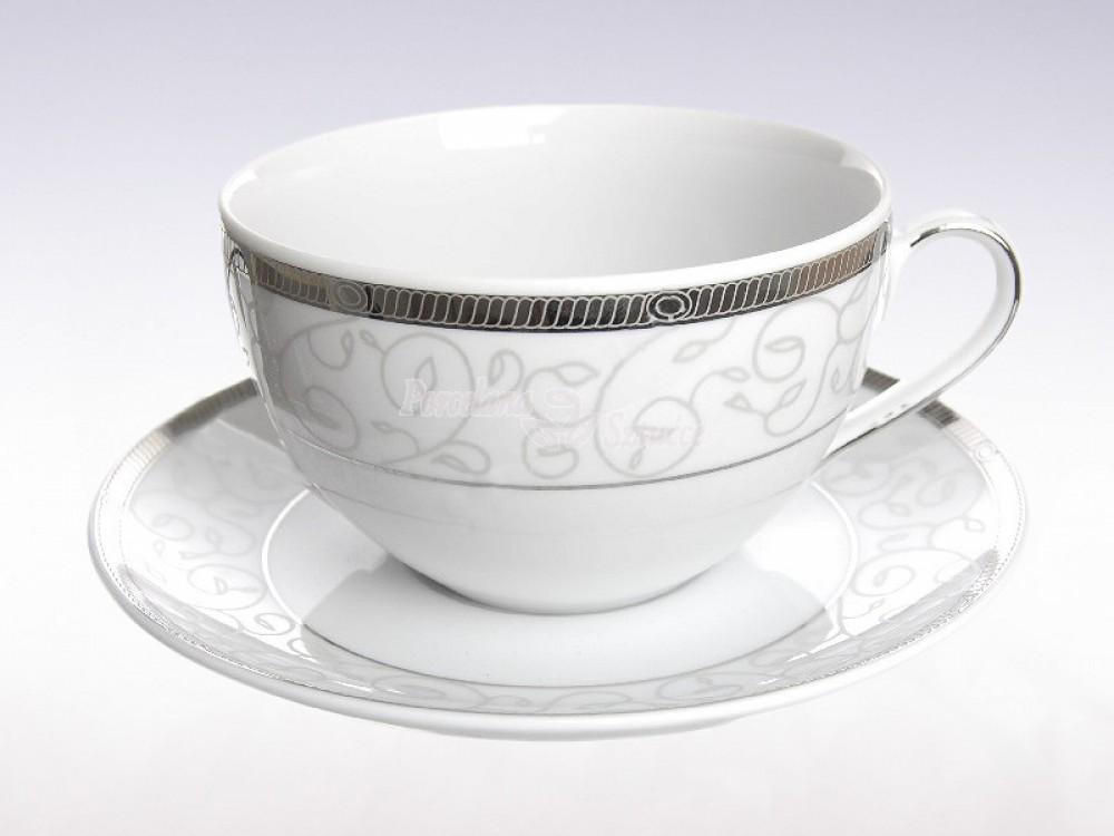 Serwis do herbaty 6 osób 21 el. Ćmielów Yvonne Kornelia E606