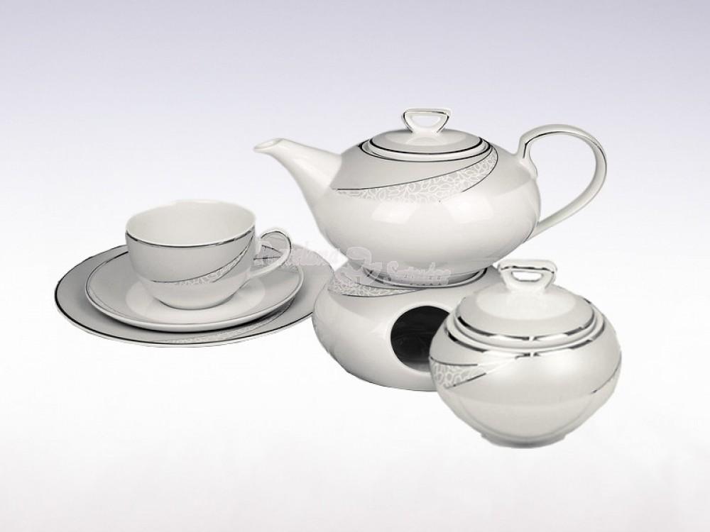 Serwis do herbaty 6 osób 21 el. Ćmielów Yvonne Tezeo E615