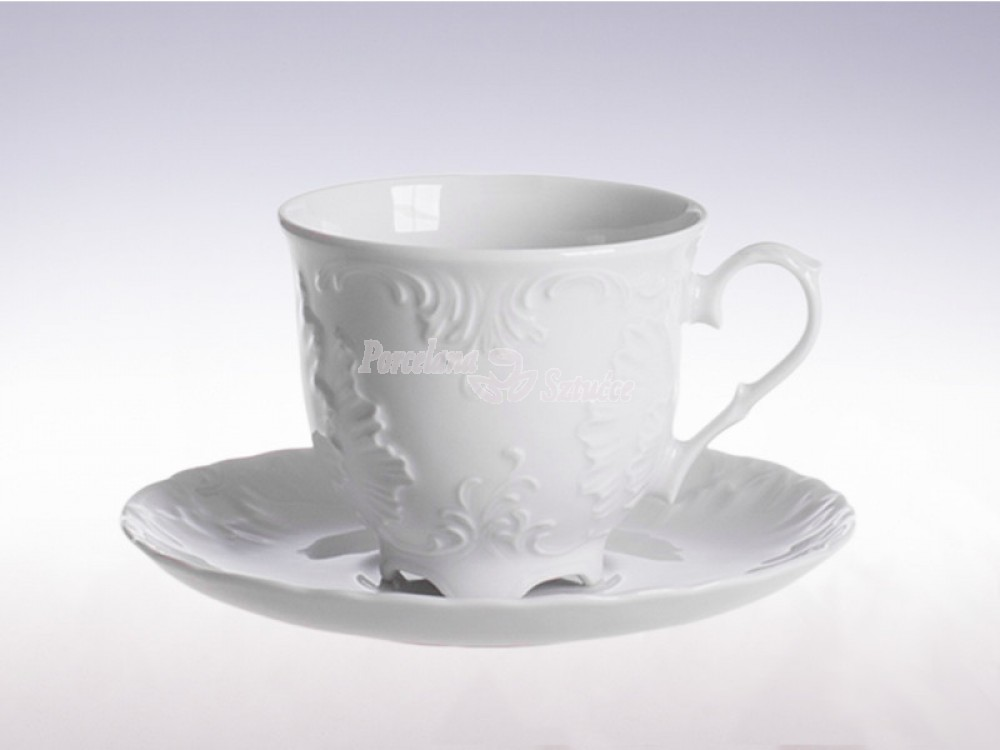 Serwis do Kawy 6 osób 12 el. 250ml Ćmielów Rococo Biały 0001