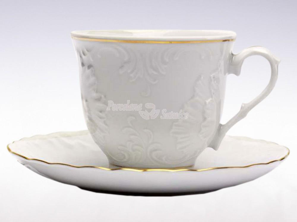 Serwis do Kawy 12 osób 39 el. 250 Ćmielów Rococo Złoty Pasek 3604