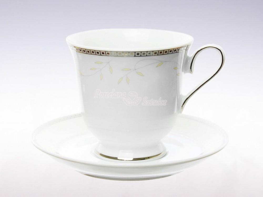 Serwis do Kawy 12 osób 39 el. Ćmielów Astra Marzenie Platynowe B601