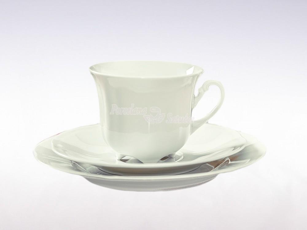 Serwis do Kawy 12 osób 39 el. 230 Ćmielów Bolero Biały 0001 Wzór