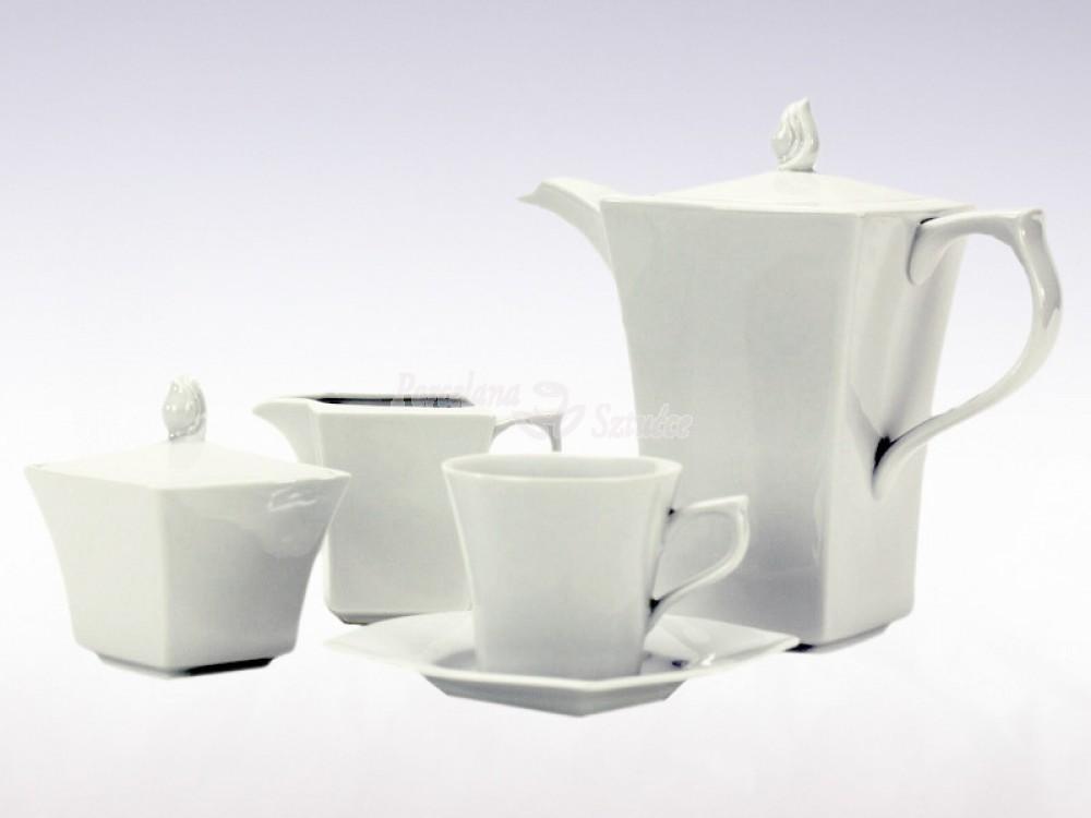 Serwis do Kawy 12 osób 39 el. Ćmielów Lwów Biały 0001