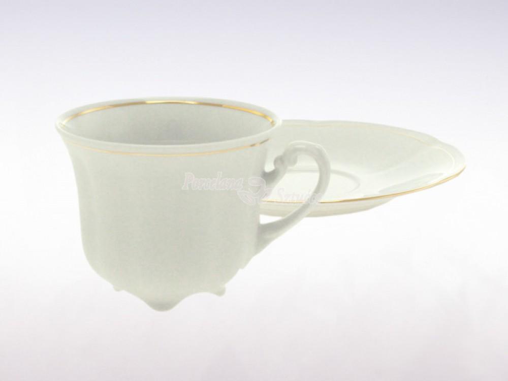Serwis do Kawy 6 osób 20 el. 230 Ćmielów Bolero Złoty Pasek 3604