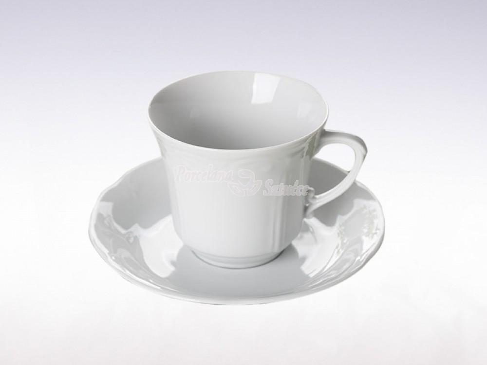 Serwis obiadowo-kawowy 6 osób 30 el. Chodzież Kamelia Biały C000