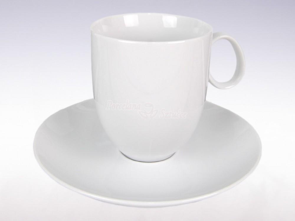 Serwis obiadowo-kawowy 6 osób 30 el. Chodzież Quebec Biały C000