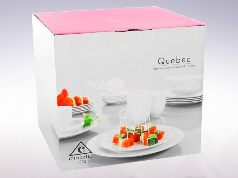 Serwis obiadowo-kawowy 6 osób 30 el. Chodzież Quebec Pastelowe Maki G284 Wzór